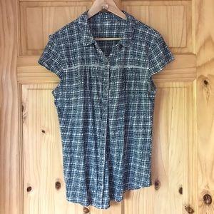 Ruff Hewn sleeveless button front knit top Sz XL